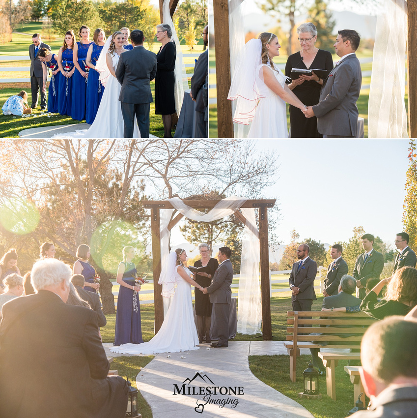 Fall wedding photographed by the Denver Wedding Photographers of Milestone Imaging
