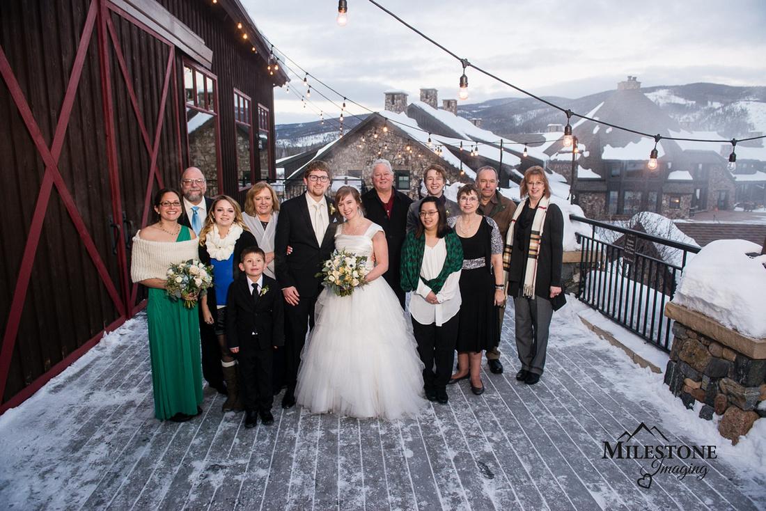 Photographed by Colorado Mountain wedding photographers Milestone Imaging.