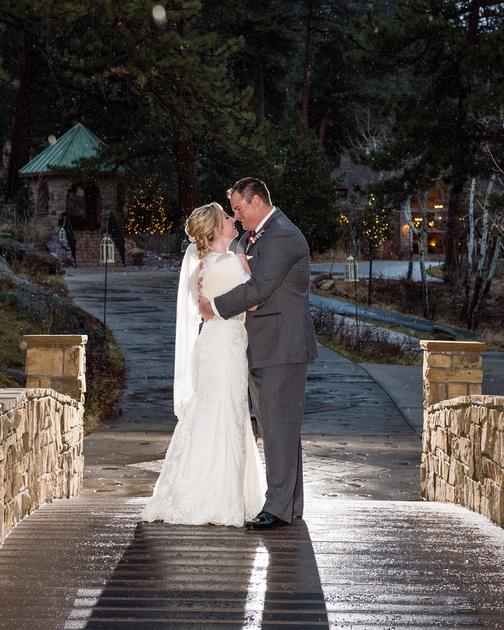Della Terra November wedding by Estes Park Colorado Photographer Tom Miles of Milestone Imaging