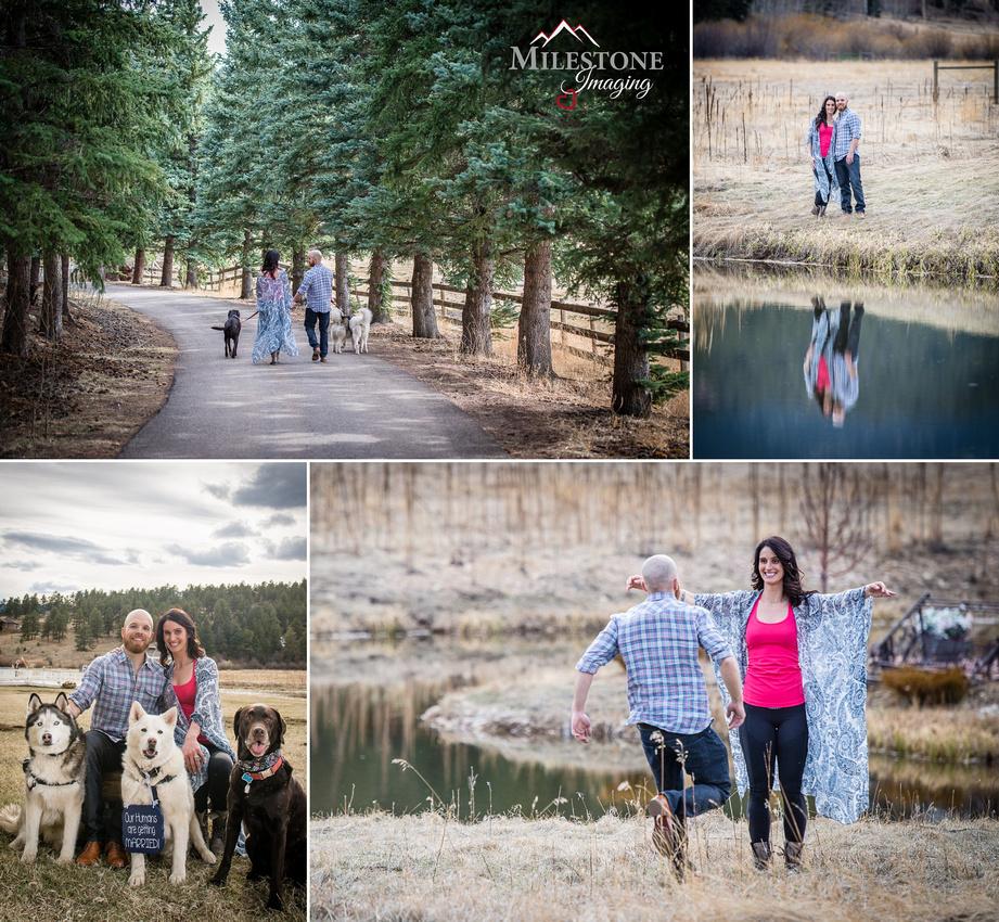 Deer Creek Valley Ranch engagement photos by Denver Wedding Photographer Tom Miles of Milestone Imaging