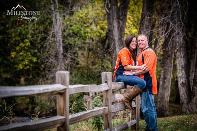 Beautiful fall engagement photography by Denver Wedding Photographer Milestone Imaging.