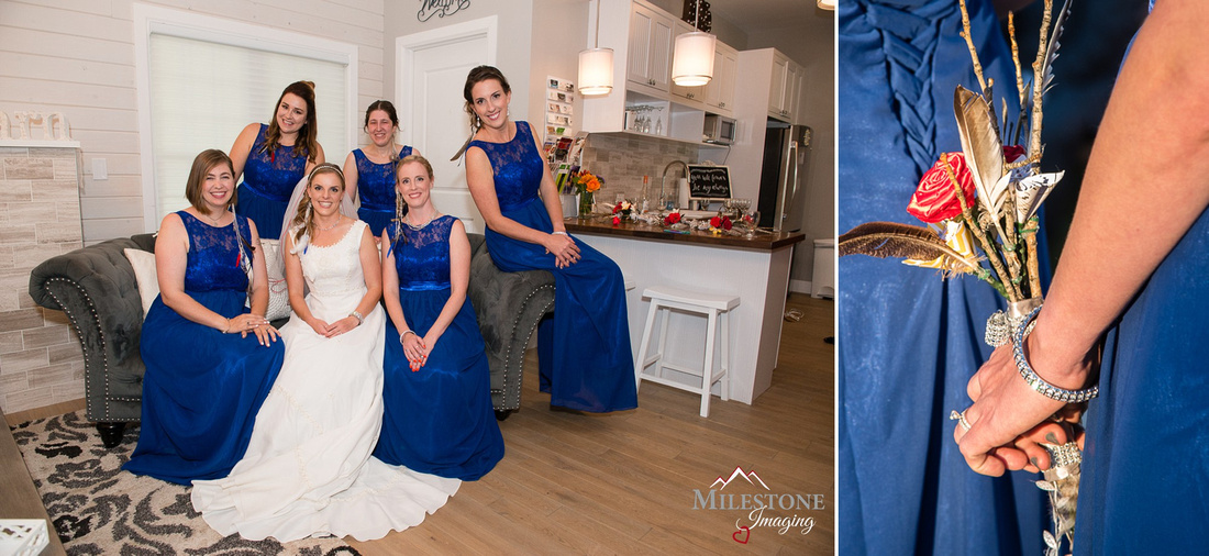 Bride and Bridesmaids photographed by the Denver Wedding Photographers of Milestone Imaging