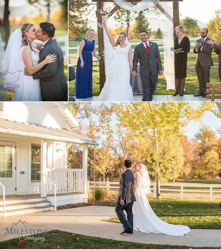 Fall Wedding photographed by the Denver Wedding Photographers at Milestone Imaging