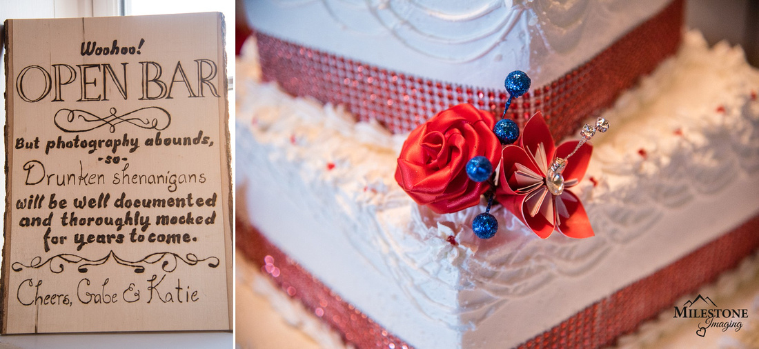 Wedding cake and details photographed by Denver Wedding Photographer, Milestone Imaging