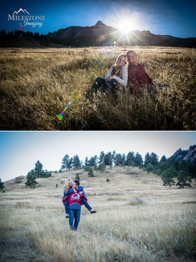 Chautauqua Park engagement photos by Denver Wedding Photographer Tom Miles of Milestone Imaging