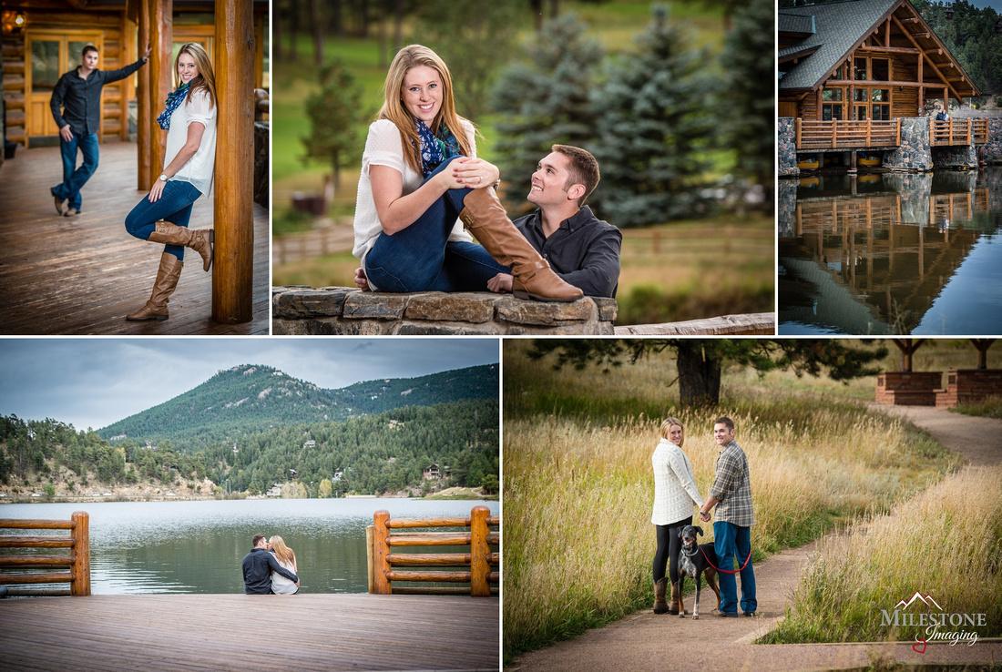 Evergreen, Colorado engagement photos by Denver Wedding Photographer Tom Miles of Milestone Imaging