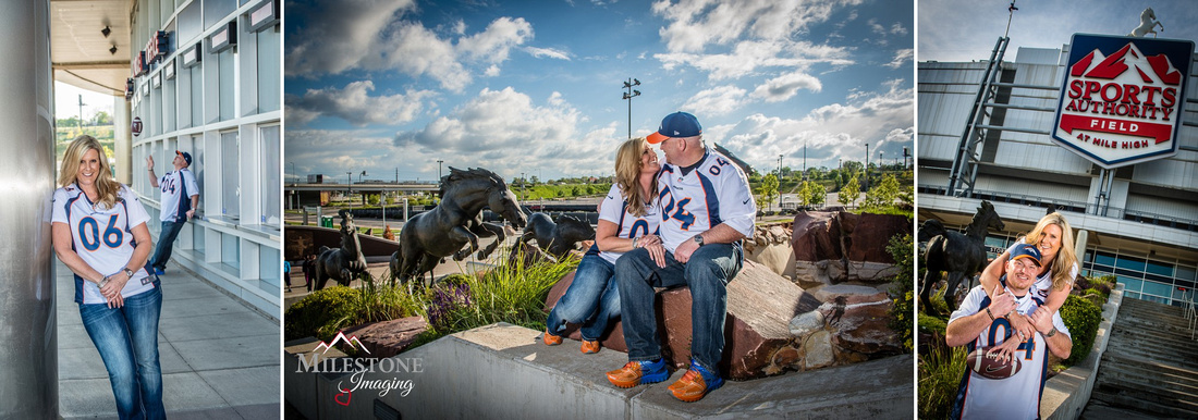 Engagement Photos at Sports Authority Field by Denver Wedding Photographer, Tom Miles of Milestone Imaging