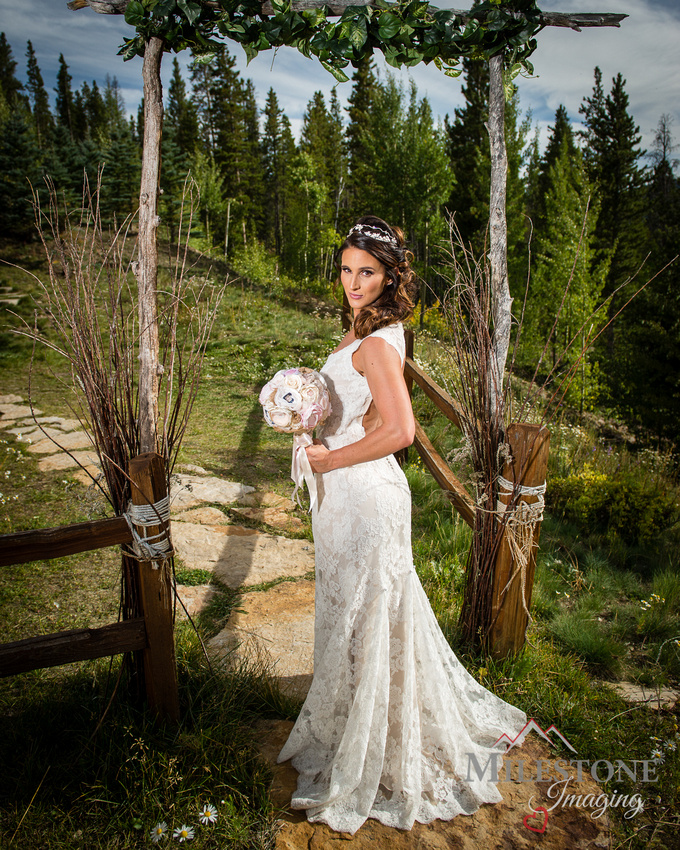 Bridal portrait captured by Colorado Wedding Photographers, Milestone Imaging