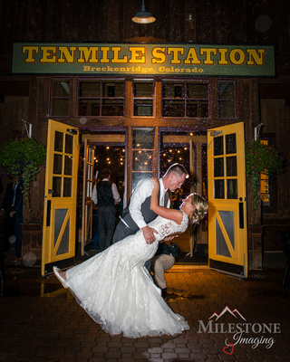 Wedding photography by Breckenridge Colorado Mountain wedding photographer Milestone Imaging.