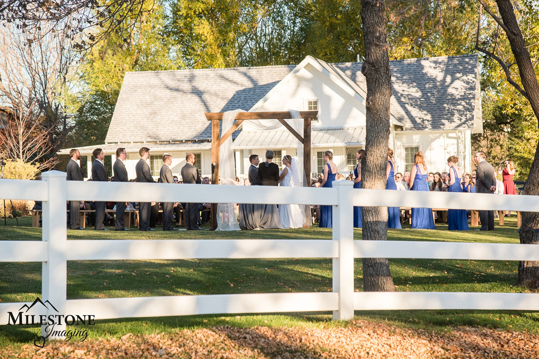 Fall Wedding photographed by Denver Wedding Photographer, Milestone Imaging