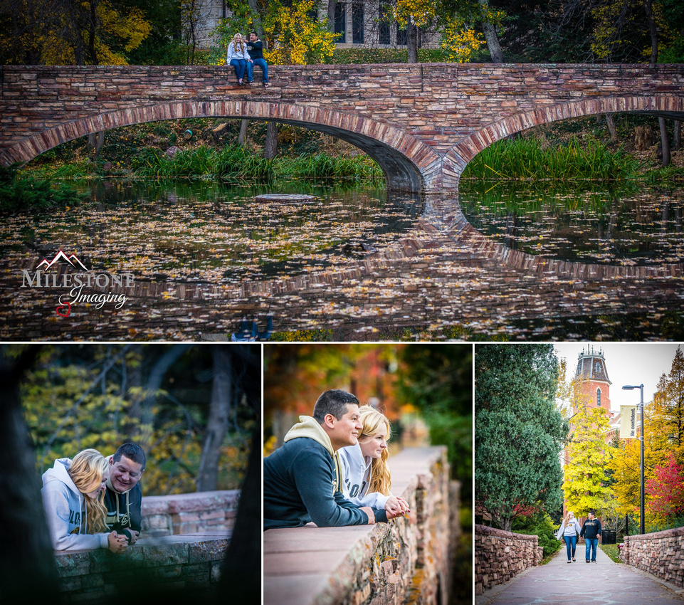Engagement photos by Denver Wedding Photographer Tom Miles of Milestone Imaging