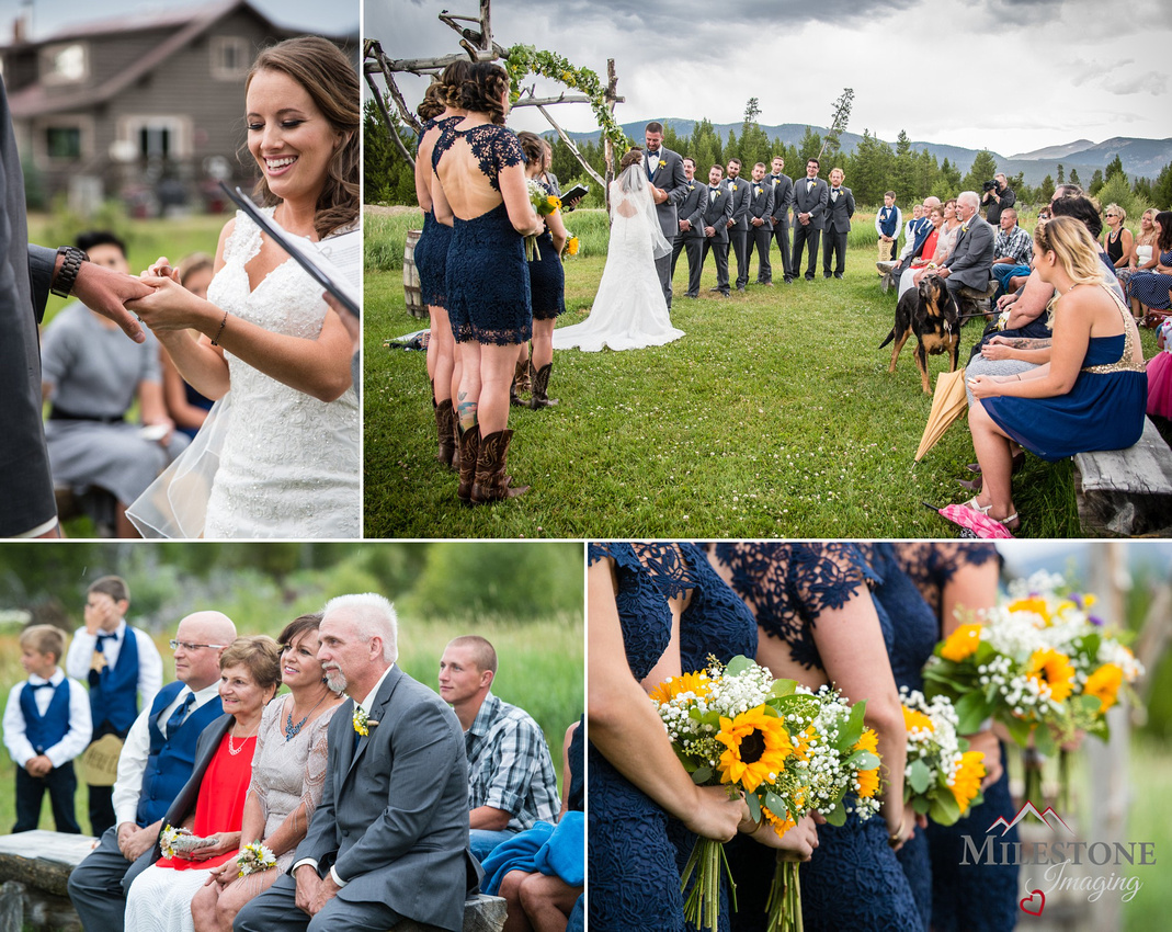 Melissa and Dan's 7/23/16 wedding at Winding River Ranch, Granby, Colorado by wedding photographer Tom Miles, Milestone Imaging