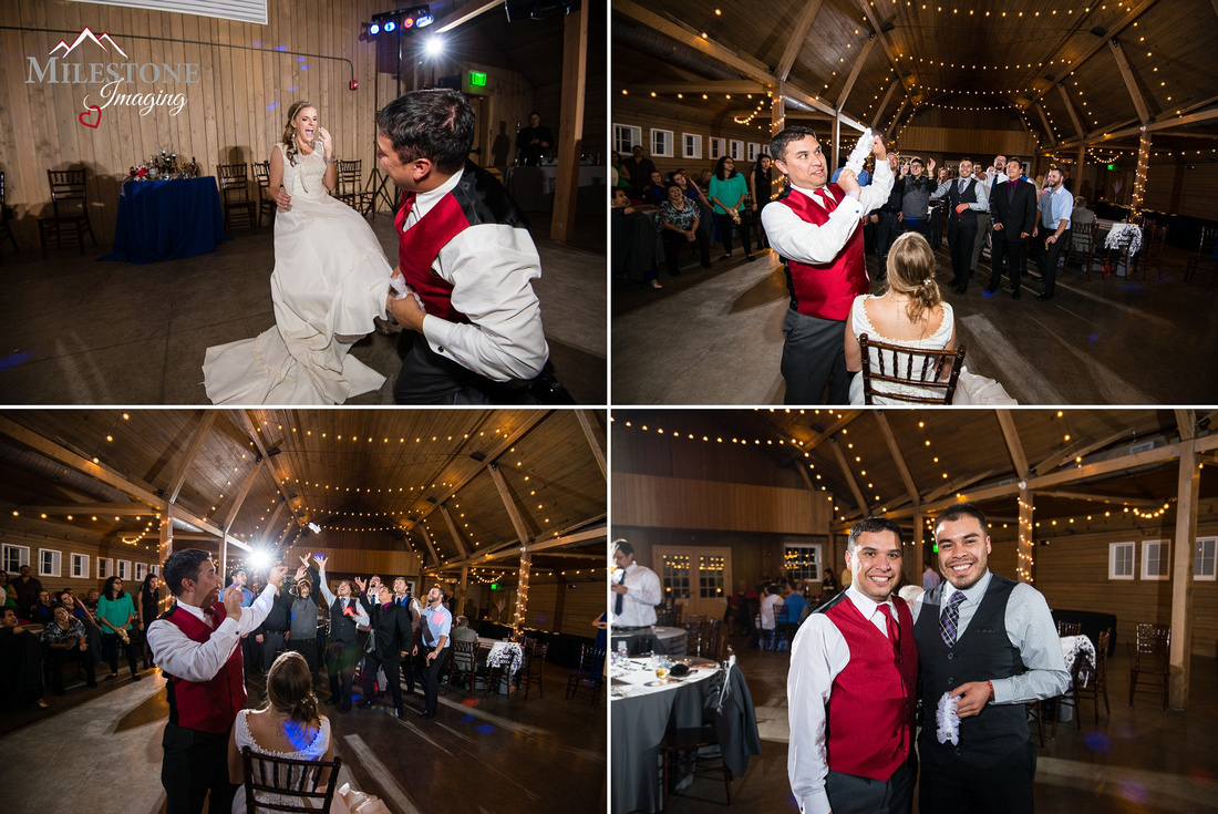Wedding reception photographed by Denver Colorado wedding photographers Milestone Imaging