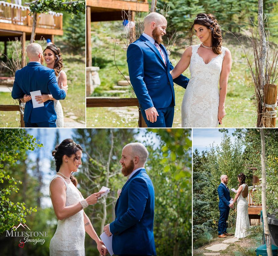 Wedding photography by Colorado Mountain wedding photographers Milestone Imaging