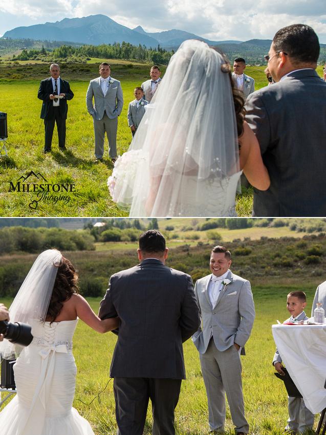 Wedding images by Colorado Mountain  wedding photographers Milestone Imaging