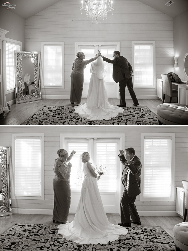 A funny moment captured by Denver Wedding Photographer, Milestone Imaging