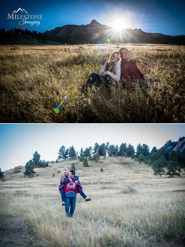 Chautauqua Park engagement photos by Denver Wedding Photographer Tom Miles of Milestone Imaging