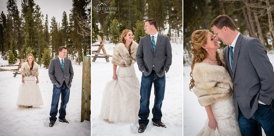 Devil's Thumb Ranch Winter Wedding Photography by Denver Colorado Wedding Photographer Milestone Imaging