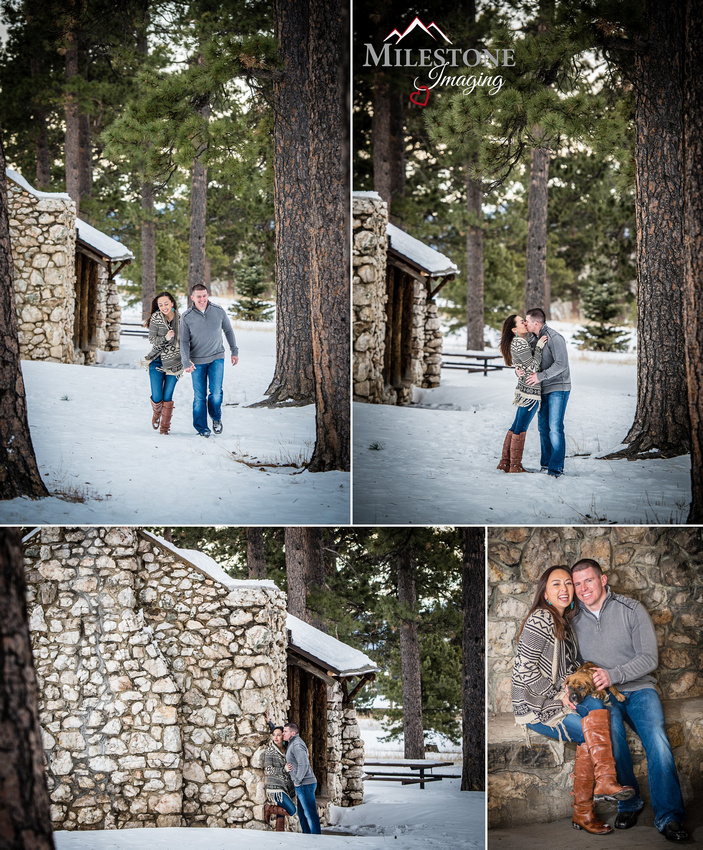Winter engagement photos by Denver Wedding Photographer Tom Miles of Milestone Imaging